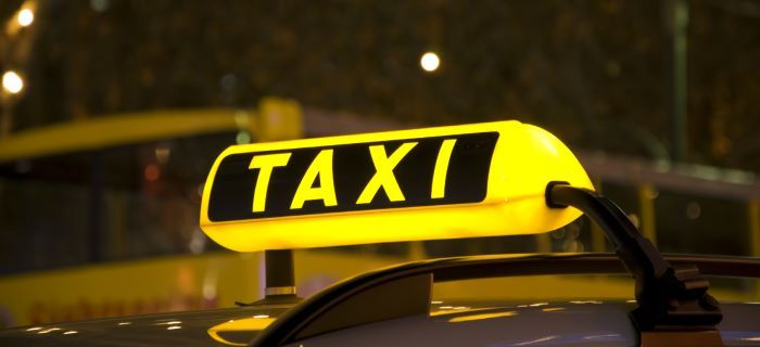 taxi sign lights
