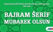 Čestitka SDA Brčko povodom nastupajućeg Kurban-bajrama