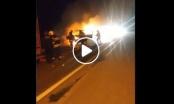Zapalio se kombi kod Brezovog Polja /VIDEO/