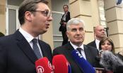 Čović u prisustvu Vučića nije govorio o priključenju BiH NATO-u, podržao stavove Srbije