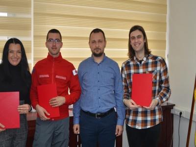 Uručene plakete volonterima godine: Haris, Milica i Safet budućnost mladih u Brčkom