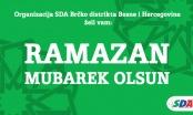 SDA Brčko: Čestitka povodom mubarek mjeseca Ramazana